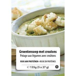Shape Essentials Groentensoep met croutons (5 x 27g) F1