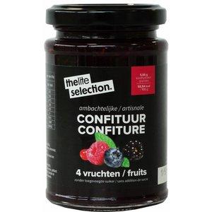 Liteselection Liteselection 4 vruchten confituur 230g suikervrij