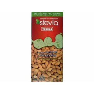 Torras Stevia chocolade melk/amandelen 1 pc Sugarfree