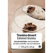 Shape Essentials Tiramisu dessert (5 x 25g) F1