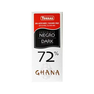 Torras Chocolade puur cacao 72% 1pc suikervrij