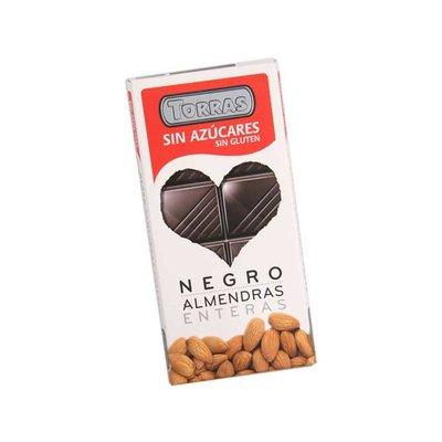 Torras Fondant chocolade met amandelen 1pc suikervrij