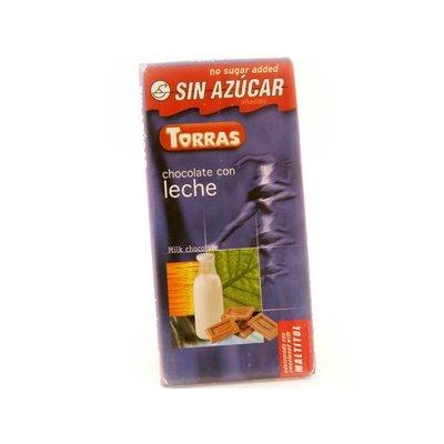 Torras Melkchocolade zonder toegevoegde suikers 1pc