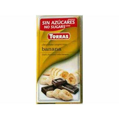 Torras Pure chocolade met banaan zonder toegevoegde suikers 1pc