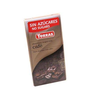 Torras Pure chocolade met koffiesmaak zonder toegevoegde suikers 1pc