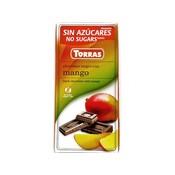 Torras Pure chocolade met mango zonder toegevoegde suikers 1pc