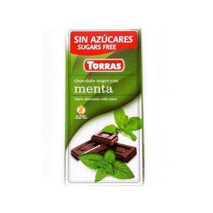 Torras Pure chocolade met munt zonder toegevoegde suikers 1pc