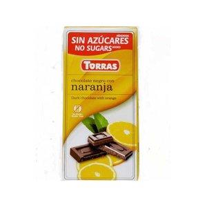 Torras Pure chocolade met sinaasappel zonder toegevoegde suikers 1pc