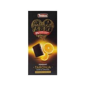 Torras Zero! Pure chocolade met sinaas 1pc zonder toegevoegde suikers