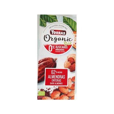 Torras Bio - organic! Pure chocolade met amandelen 1pc zonder toegevoegde suikers