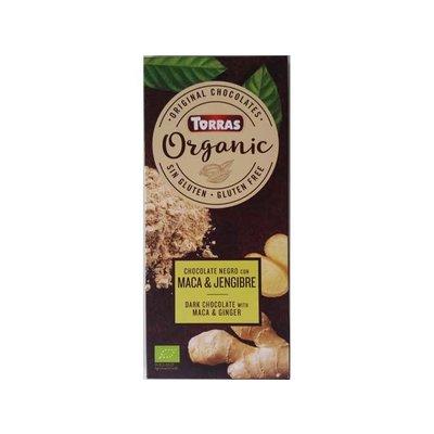 Torras Biologische pure chocolade met maca & gember 1pc