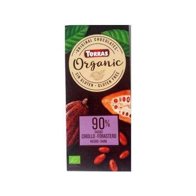 Torras Biologische pure chocolade 90% cacao 1pc