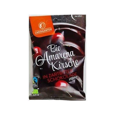 Landgarten Biologische gevriesdroogde amarena-kersen met pure chocolade