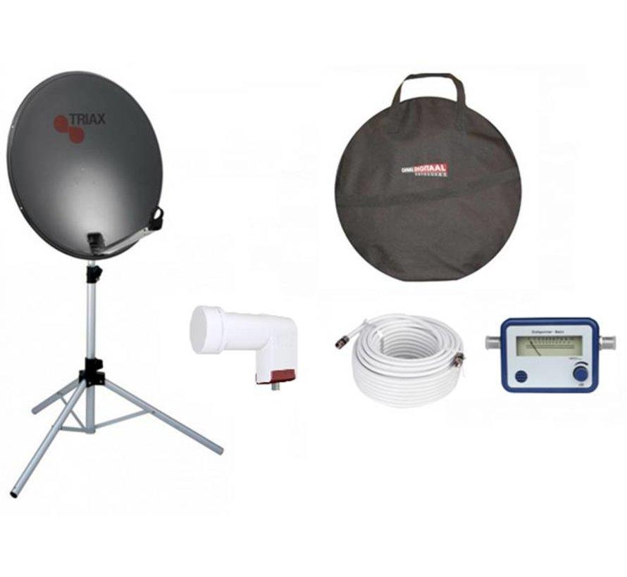 TravelSat TS-64S Recreatieset Single lnb + draagtas