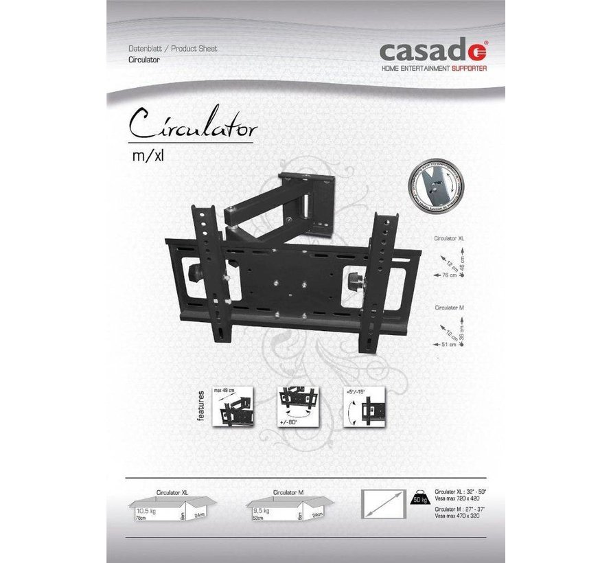 Casado Circulator L TV muurbeugel