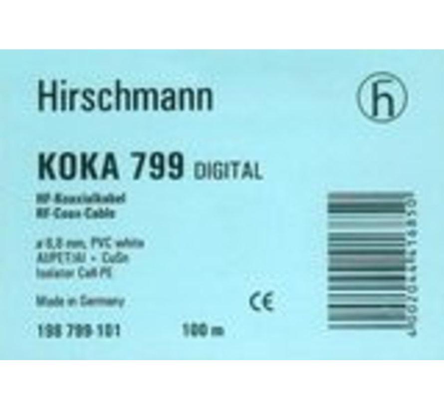 Coax kabel Hirschmann Koka 799