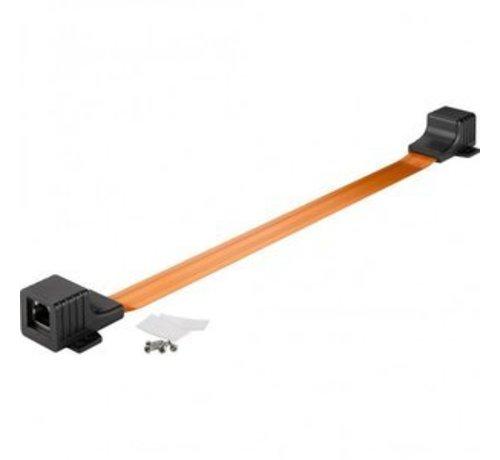 Platte RJ45 Netwerk Raamdoorvoer kabel 0,25m