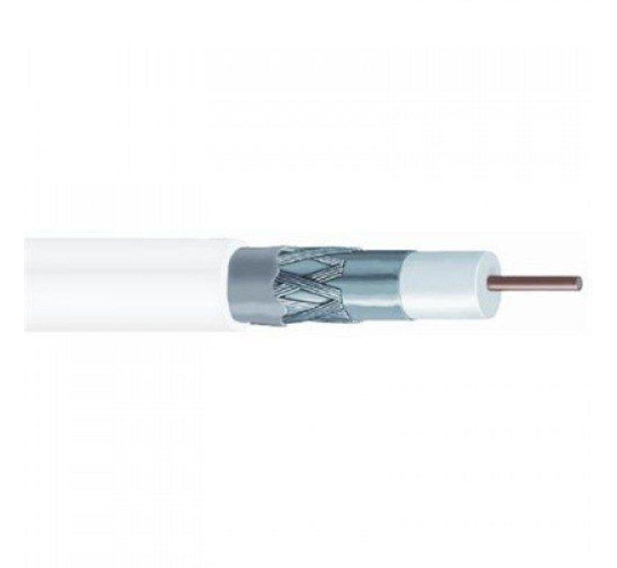 Wavefield RG6 Triple Shield CU White 300m Coax 64-0.12AL