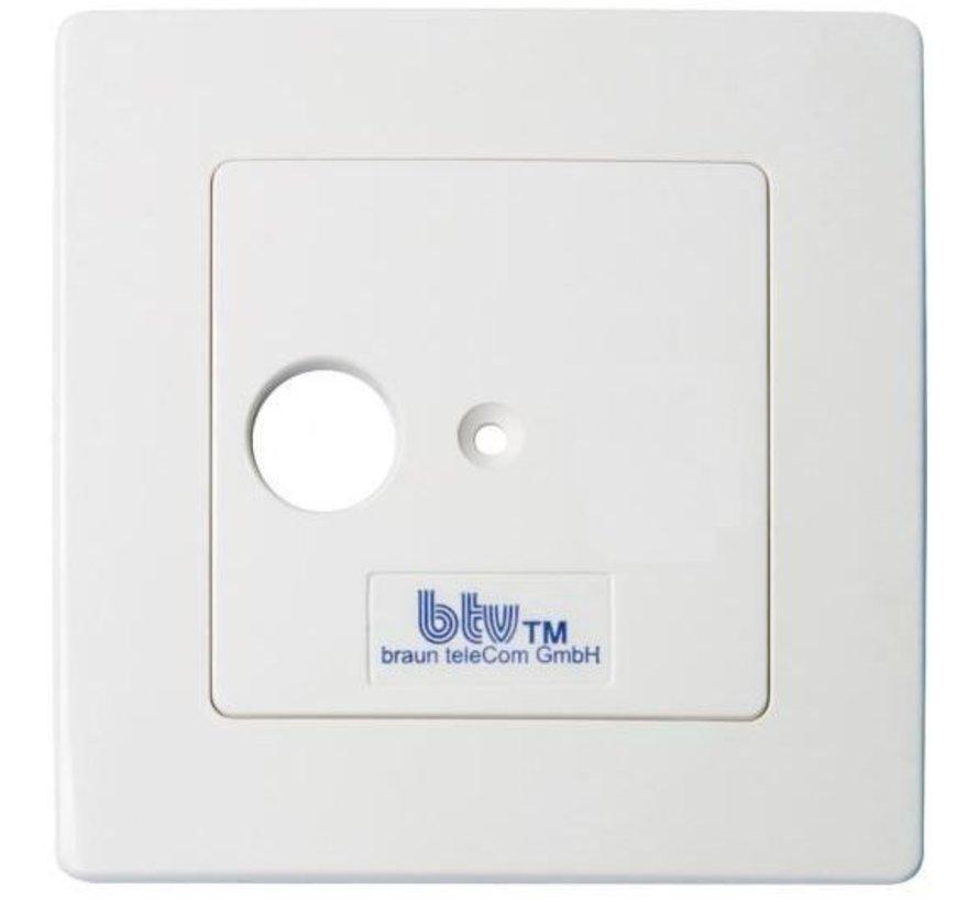 Braun Telecom BTV01-UPC enkelgats einddoos incl. afdekplaat