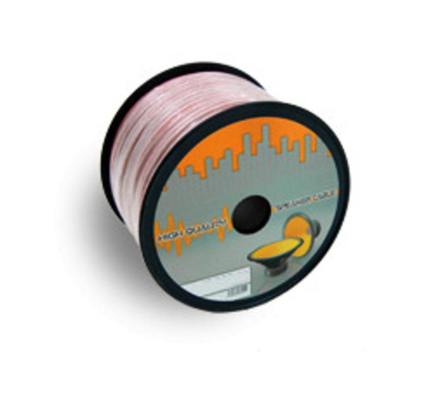 Luidspreker kabel 2x 0.75mm rol 100 meter