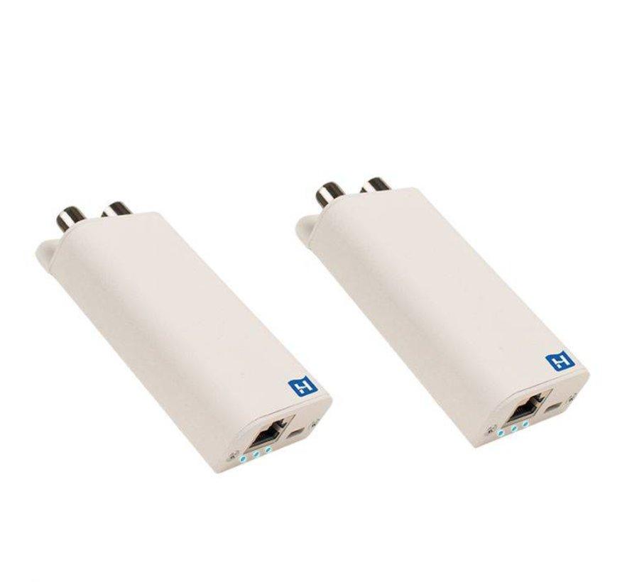 Hirschmann INCA 1G White SET Shop Gigabit EoC Adapters