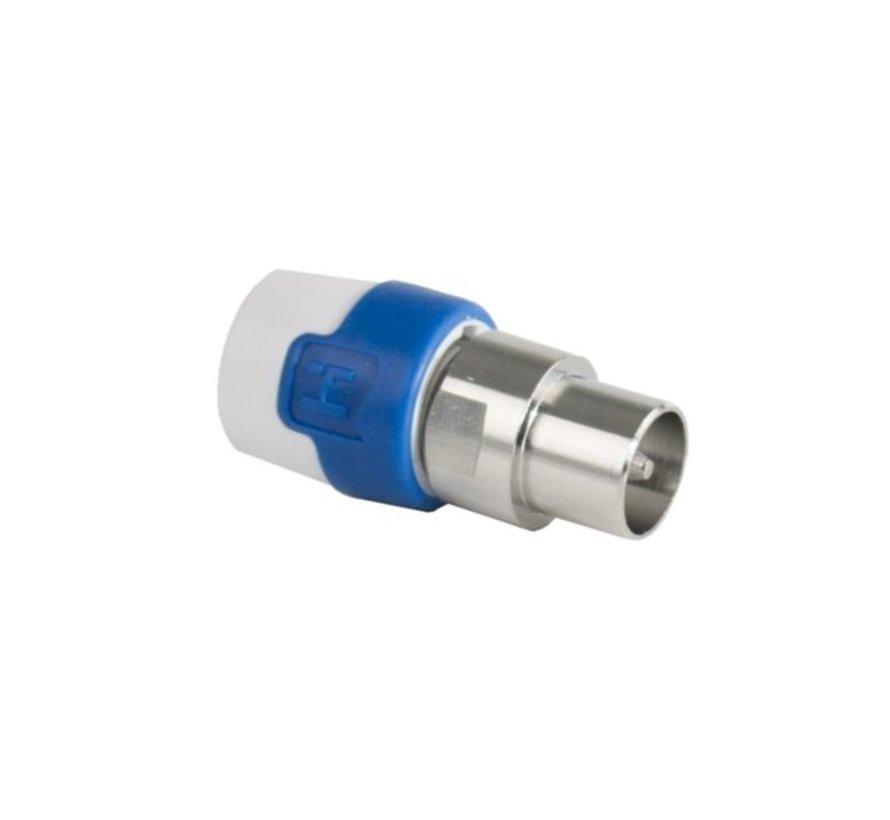 Hirschmann KOS 5 CATV Push On IEC-Connector Male P/S