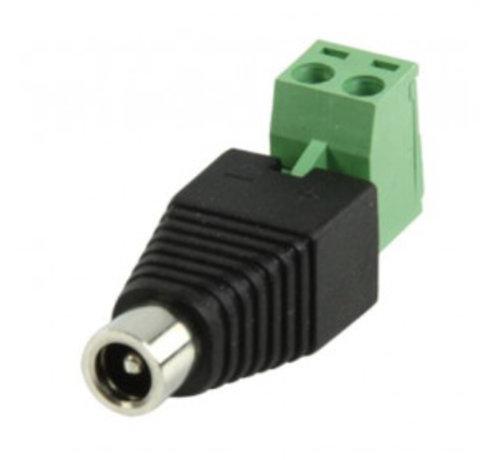 DC female Connector (dc plug met kroonsteenaansluiting vrouwelijk)