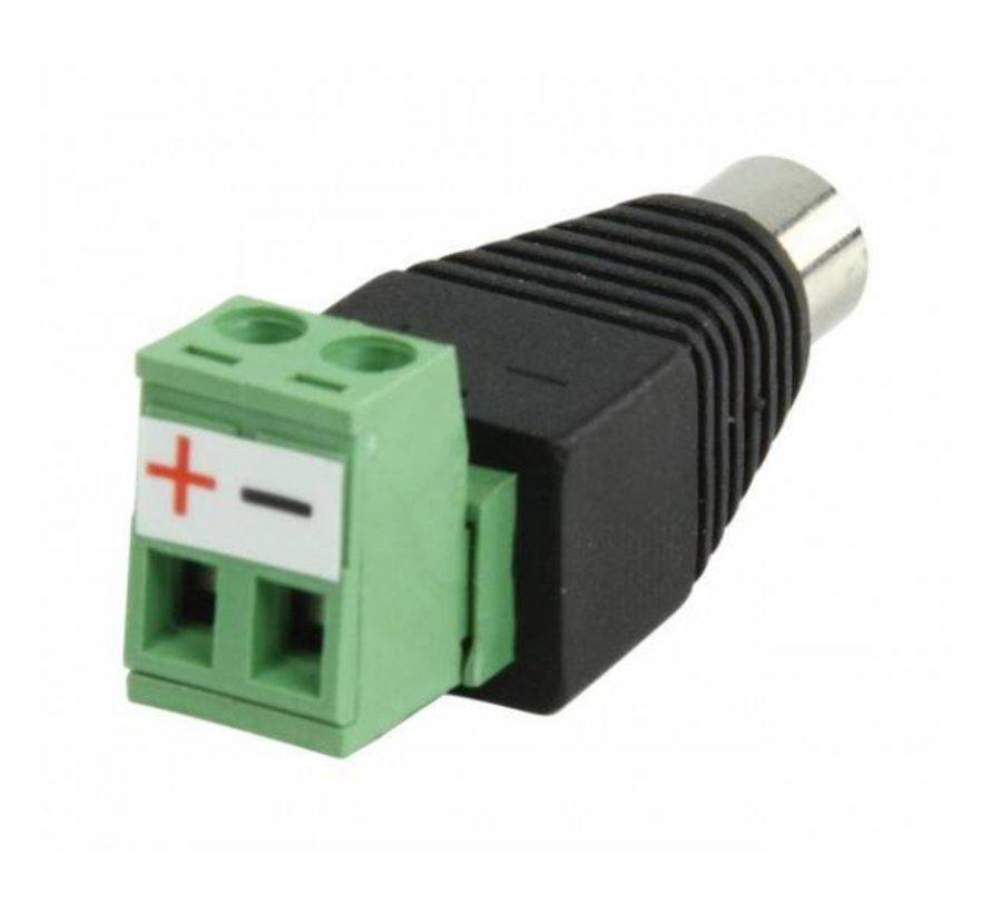 DC male Connector (dc plug met kroonsteenaansluiting mannelijk)