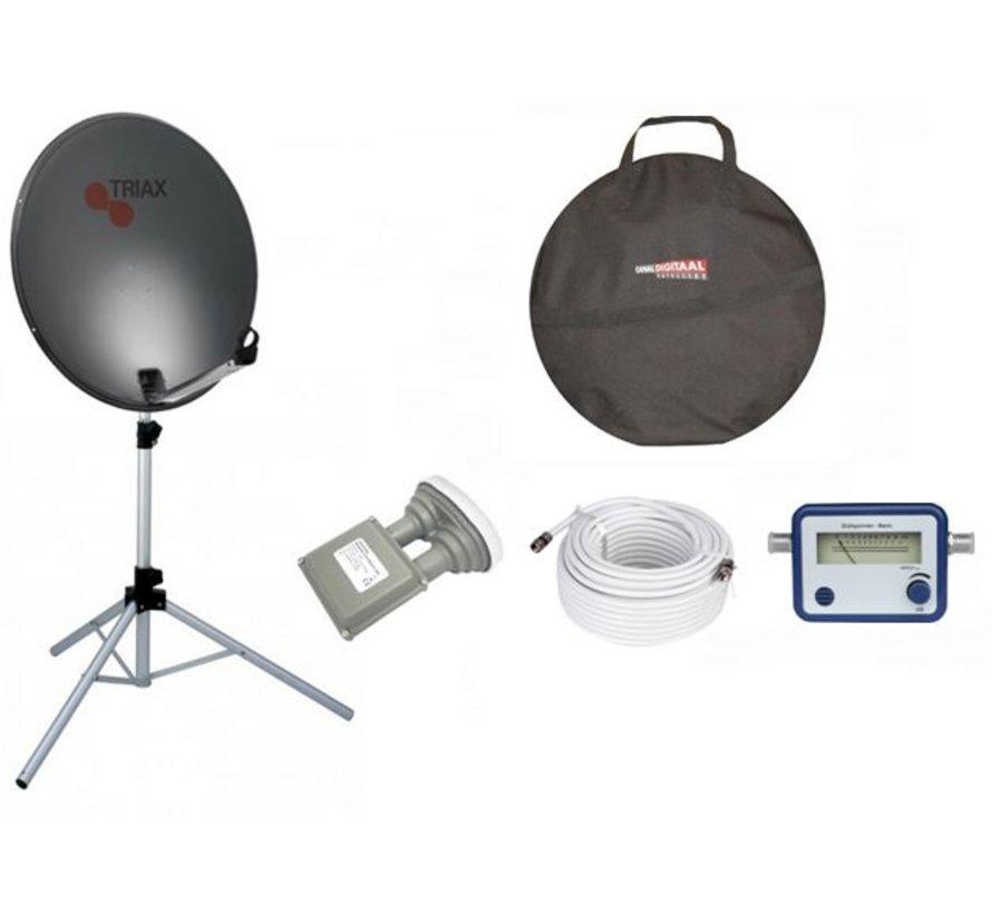TravelSat TS-64DS Recreatieset Duo Single lnb + draagtas