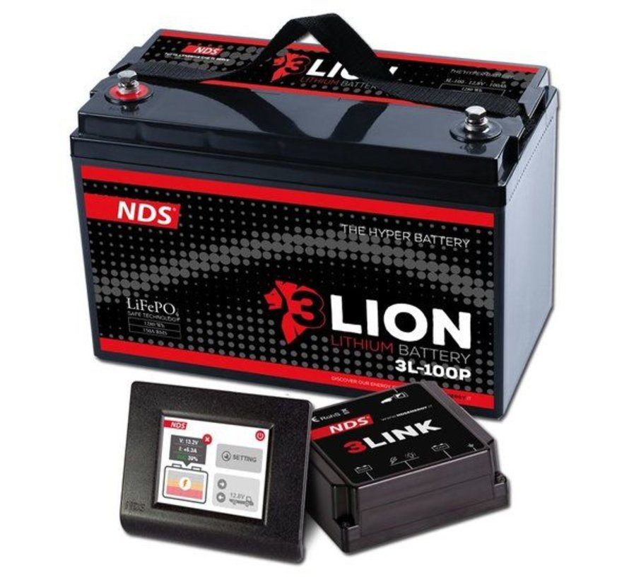 NDS 3LIONSYSTEM Lithium Accu 12V-100Ah + 3LINK 150A 3L-100P