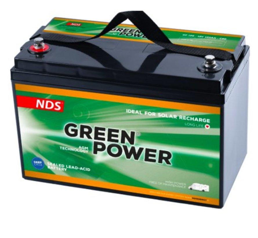 NDS GREENPOWER Service Accu AGM 12V 120Ah GP120