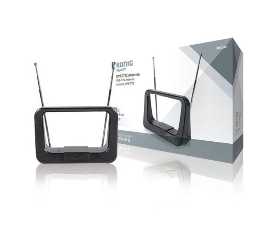 Binnen DVB-T/T2 Antenne 8 dB VHF / UHF