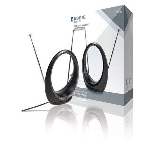 König DVB-T/T2 Binnen Antenne 34 dB VHF / UHF