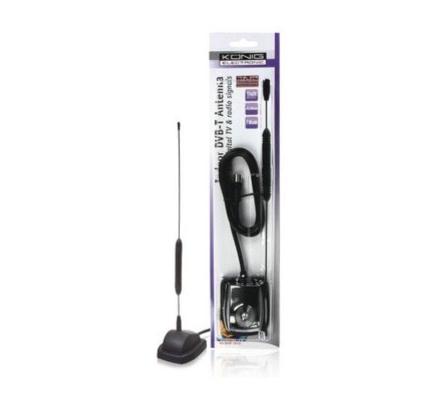 Versterkt DVB-T/T2 - DAB+ Binnen Antenne 18 dB VHF / UHF
