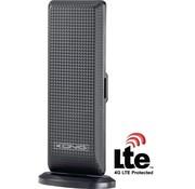 Versterkt DVB-T/T2 - DAB+ Binnen Antenne 28 dB FM / VHF / UHF