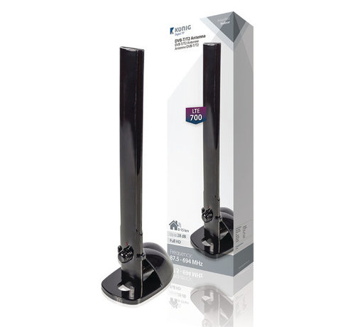 König Versterkt DVB-T/T2 Antenne 28 dB UHF / VHF