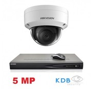 Hikvision Hikvision HD 1.3 MP camerasysteem met 1x IP Dome Camera