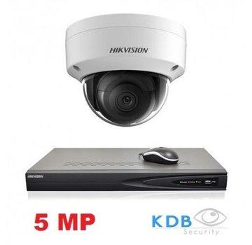 Hikvision Hikvision HD 1.3 MP camerasysteem met 1x IP Dome Camera