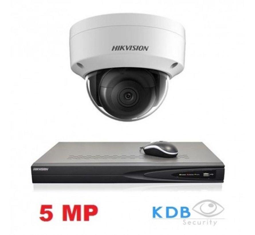 Hikvision HD 1.3 MP camerasysteem met 1x IP Dome Camera