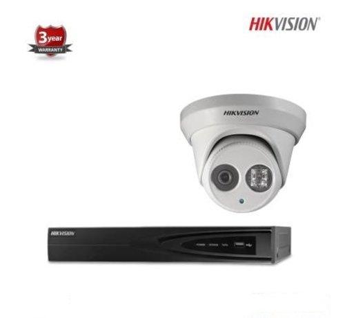 Hikvision Hikvision IP kit 1x dome 4 megapixel camerabewaking set
