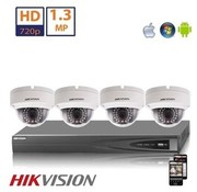 Hikvision Hikvision HD 2 MP camerasysteem met 4x IP Dome Camera