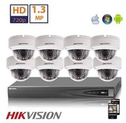 Hikvision Hikvision HD 1.3 MP camerasysteem met 8x IP Dome Camera