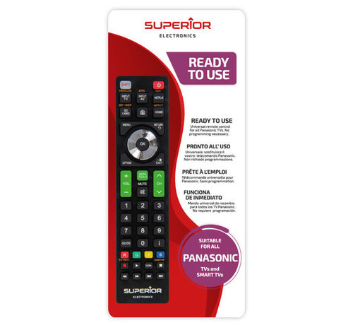 Superior Universeel afstandsbediening voor alle Panasonic TVs