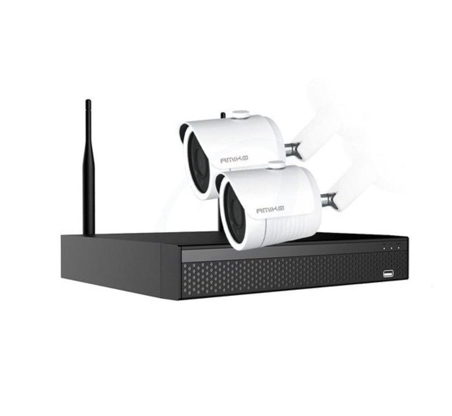 Amiko Draadloze WiFi KIT N2200 - 2MP - 2 x WiFi Camera