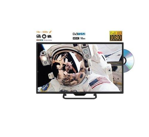 telesystems Telesystem 22 inch met DVD LED09 DVB-T2/S2 HEVC DVB-T2/S2 HEVC 12v