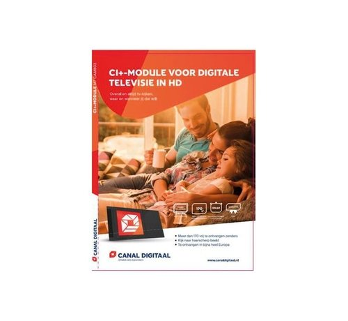 M7 / Canaldigitaal of TVV Hoofdkaart CanalDigitaal met CI+ module