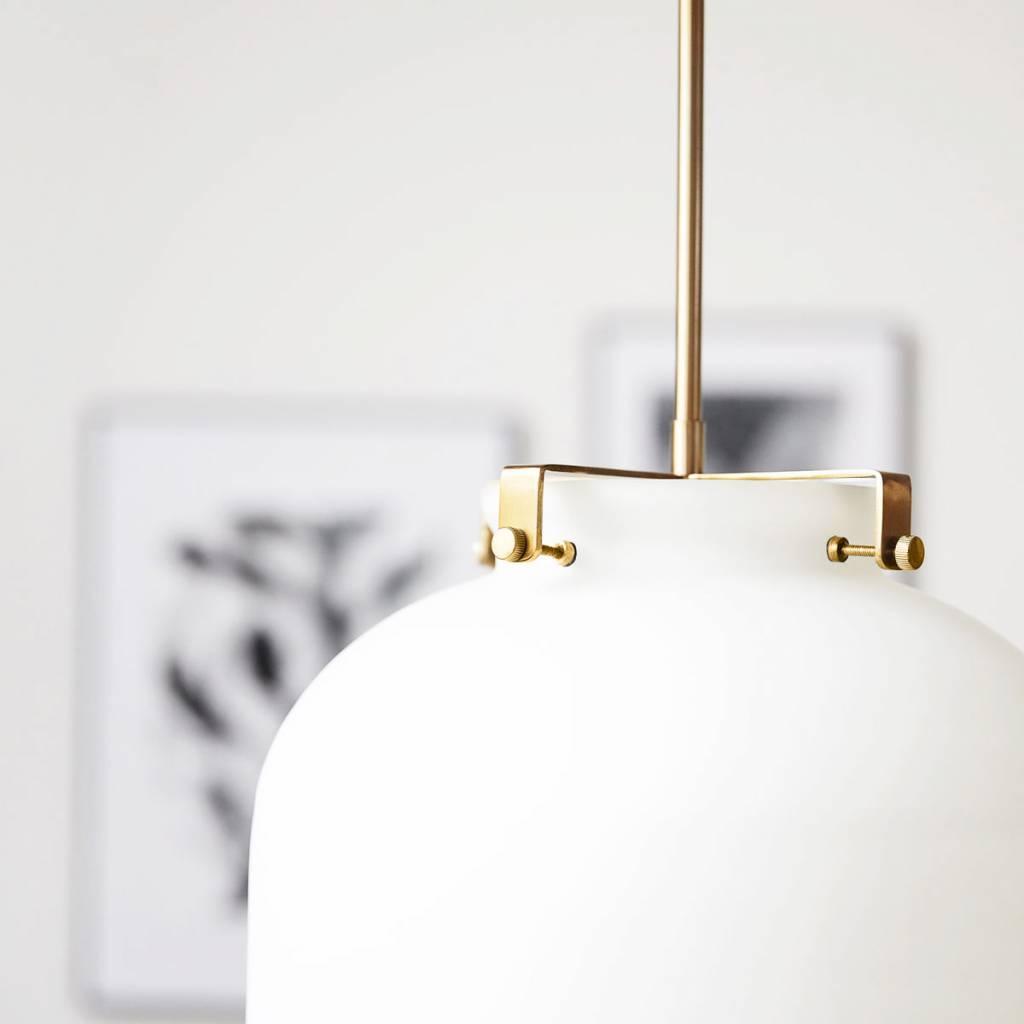 Ball pendant light white glass