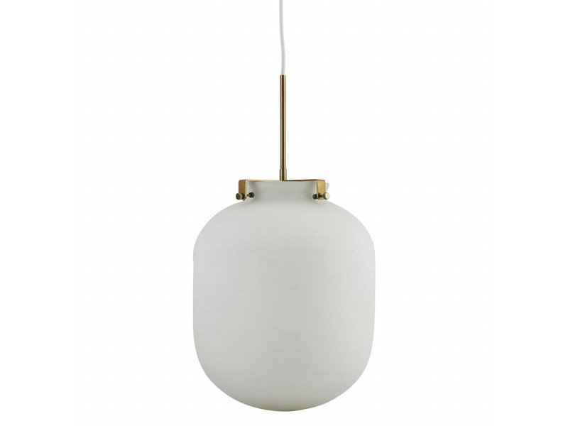 House Doctor Ball hanglamp wit glas