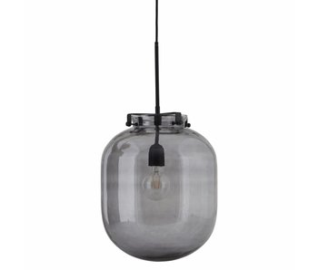 House Doctor Ball hanglamp grijs glas