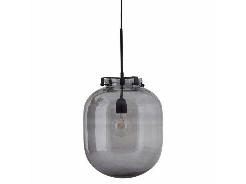 House Doctor Ball Hanging Lamp Glass Grey Living And Co